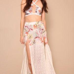 Avalon Lace Skirt by Minkpink